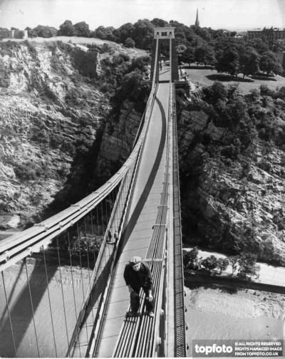 Oiling the Clifton Suspension Bridge