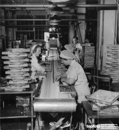 Milk Tray assembly line at Cadbury's