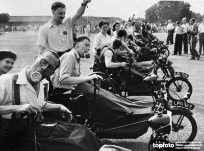 Novelty motorcycle race