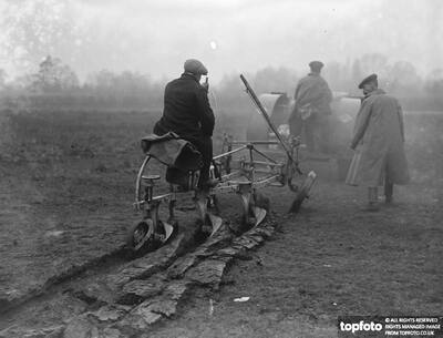 Motor plough at work in Richmond