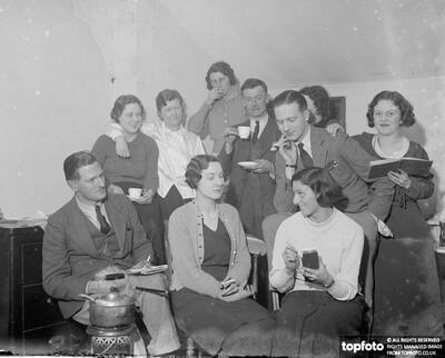 The Attic Players drama group._x000D_ 1936