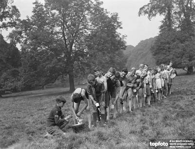 Scouts at Bexley scouts camp
