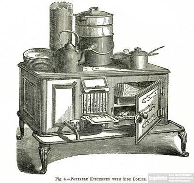 Portable kitchner with side boil