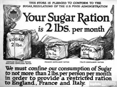 American WW1 poster _x000D_ _x000D_ Your sugar