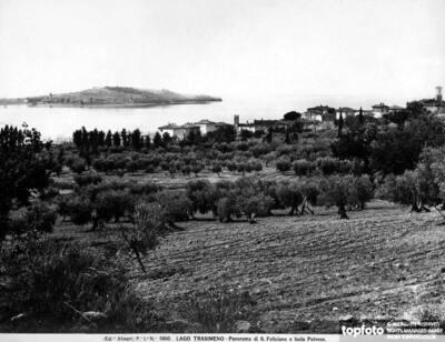 Panoramic view of Lake Trasimeno,