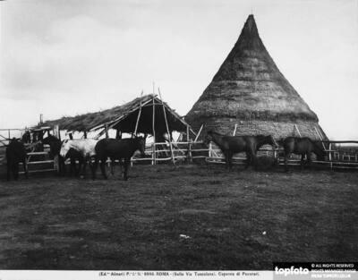 Shepherd hut on Via Tuscolana