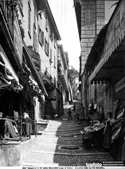 View of Via Serbelloni at