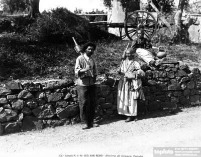Tre contadini fotografati a San