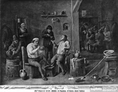 Inn with smokers and card