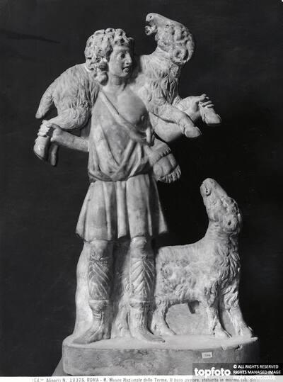 The Good Shepherd, sculpture of