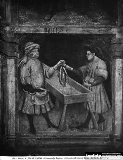 The fish vendor, detail of
