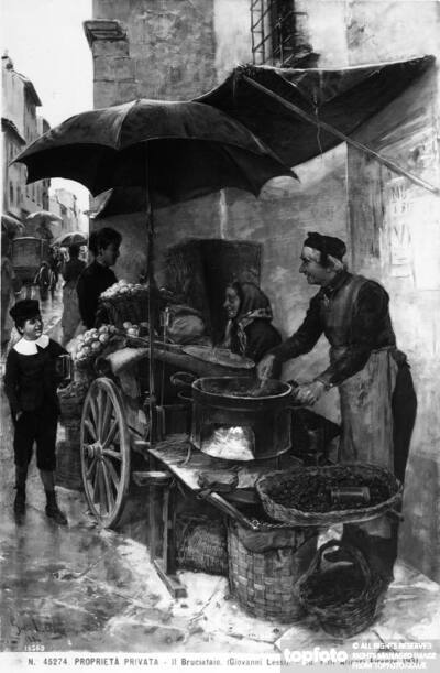 The Chestnut Roaster; painting by