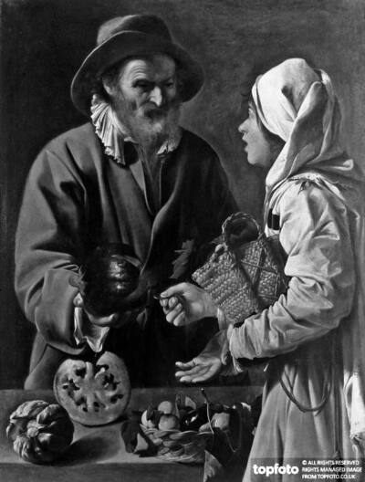 The fruit seller, work by