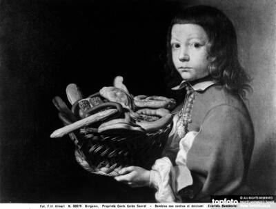 Child with Basket of Sweets,