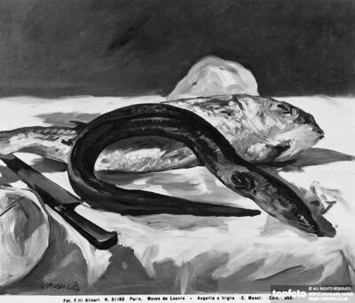 Eel and Mullet, painting by