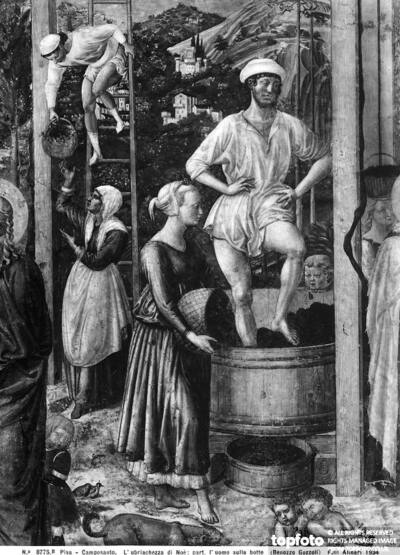 The Drunkenness of Noah, detail