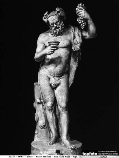 Roman statue of Silenus, in