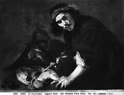 Fishmonger, painting by Guido Cagnacci,