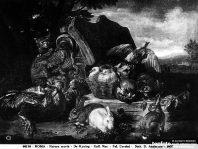 Still life and animals; painting