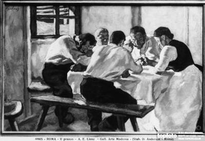 The Meal, painting by Albin
