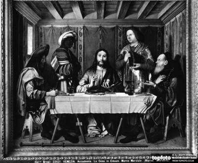 Dinner in Emmaus, painting by