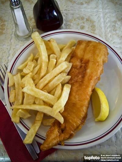 Classic British fish and chips