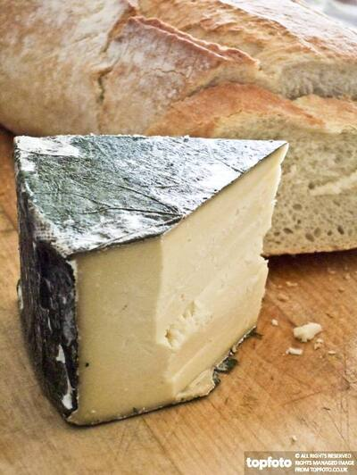 Cornish Yarg cheese with covering