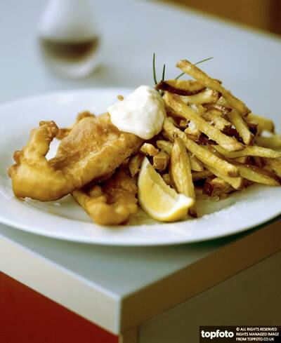 Home cooked fish in batter