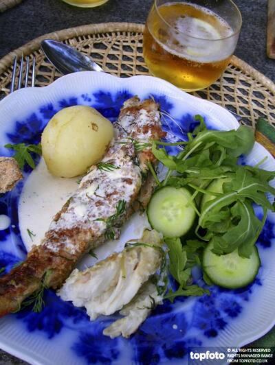 Swedish summer meal