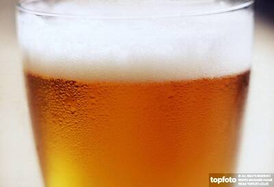 glass of beer  or lager