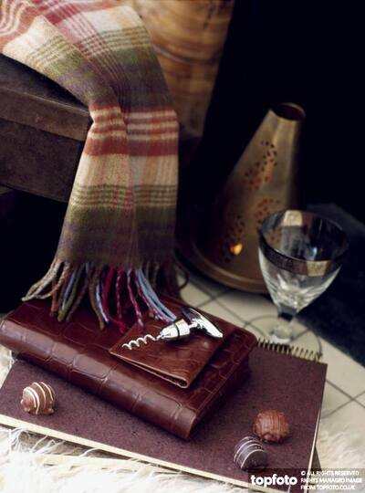Scarf and leather goods