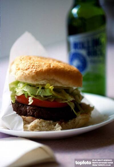 Burger and Rolling Rock