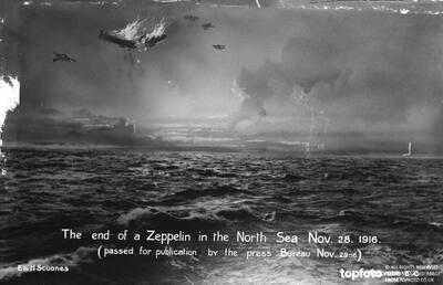 Zeppelin down North Sea