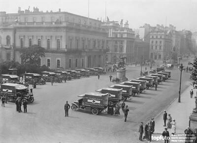 New Ambulances WW1
