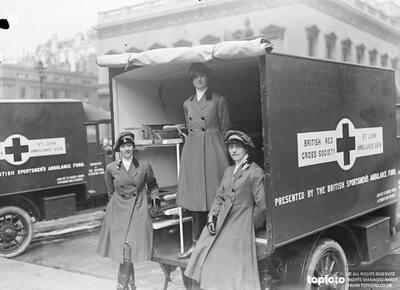 women ambulance crew