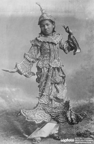 Typical dancing girl of Burma