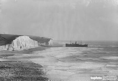 Sea drama near Brighton .