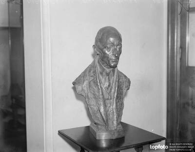Bust of famous composer for