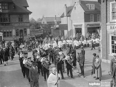Palm Sunday procession at Orpington