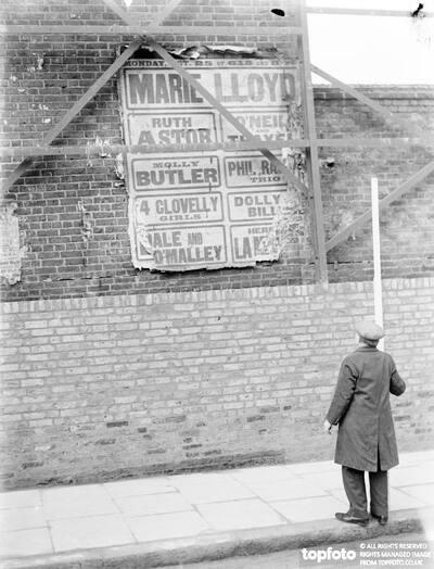 A Marie Lloyd poster ._x000D_ 1937