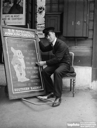 Railway porter sign writer Mr