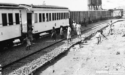 Abyssinian troop train ._x000D_ 1935