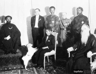 Tutor to Haile Selassie ._x000D_ 1938