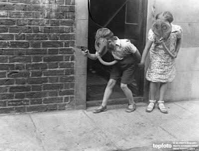 Modern children fight their battles