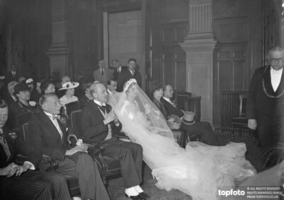 Mr George Courtauld weds childhood