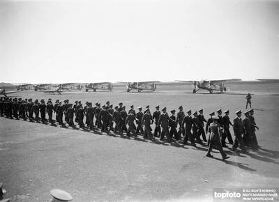 Italian airmen decorated by Marshal