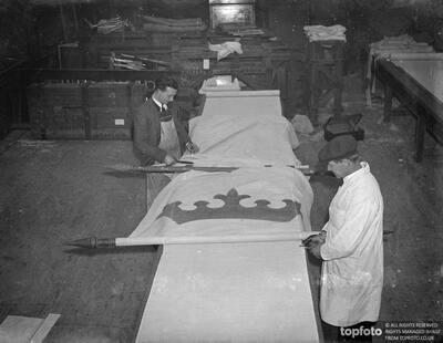 40 foot banners as Coronation