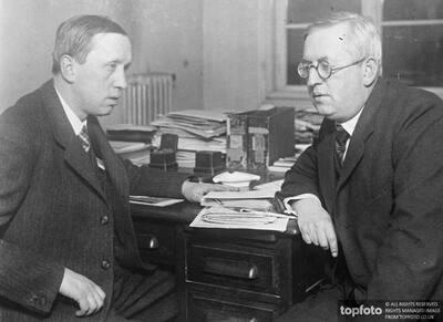 Karel Capek (left) and his