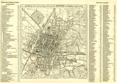 Freiburg in Breisgau - 1900 - plan miasta