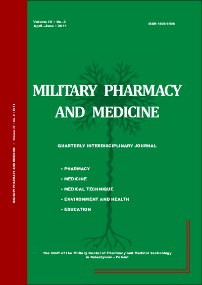 Military Pharmacy and Medicine. 2011. Volume IV. No. 2